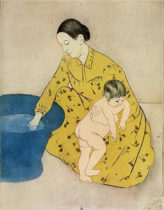 """""""En el baño"""" Mary Cassatt"""
